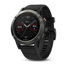 Garmin Fenix 5 Premium Multisport Fitness GPS Smartwatch Slate Gray Black Band