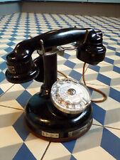 ANCIEN TELEPHONE A colonne THOMSON HOUSTON-MéTAL-BAKéLITE-cadran-écouteur-1920