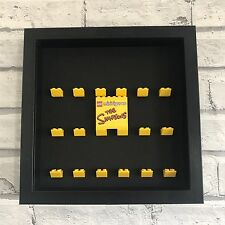 Mini Figures Black Display Case Frame White Yellow Lego Brick The Simpsons