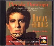 Placido DOMINGO Signiert ROMAN HEROES Nerone Attila Tosca CD Puccini Mascagni