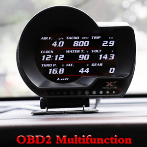 Car OBD2 Multifunction Gauge Head-Up Display Turbo Boost Gauge Fuel Speed Meter