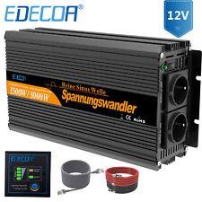 EDECOA Reiner Sinus Spannungswandler 12V 230V Wechselrichter 1500 3000 Watt