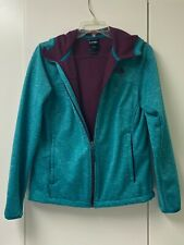Women's North Face Hoodie full zip 2 front pockets with zippers Teal size Medium