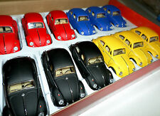 1 FLAT YELLOW 1967 CLASSICAL Volkswagen VW Beetle Bug Car Diecast 1/32 Pullback