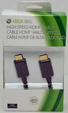 NEW GENUINE Microsoft XBox 360/ONE High-Speed Black HDMI CABLE A/V Gaming slim 1