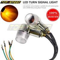 Universal Motorcycle Turn Signal Light 10MM Bolt Indicator For Yamaha Kawasaki
