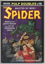 """The Spider #16 Pulp """"Reign of the Death Fiddler"""" & """"Whispering Death"""" ~ Reprint"""