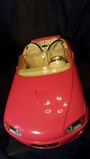 Vintage 1996  Barbie Pink Car - Works