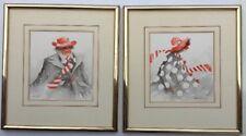 Noel Miller 81 Pair Of Clown Painting
