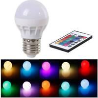 E27 RGB LED Lamp Power Saving With IR Remote 16 Color Change 3W Soptlight