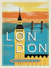 London The Square Mile, Retro Vintage Metal Sign, Man Cave, Gift