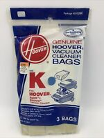 Hoover Type K Vacuum cleaner Replacement Bags 4010028K canister 1-3 pack READ