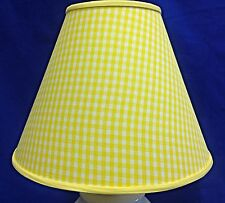 Yellow White Gingham Check Handmade Lamp Shade Lampshade