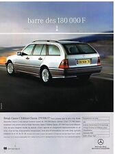 Publicité Advertising 1999 Mercedes Break Classe C Edition Classic