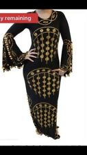 Black And Gold Heavy beaded Egyptian Henna Dress Size M-L