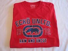 "Men's ECKO UNLTD 2XL XXL ""RAW AND UNCUT"" RED Rhino Cotton T-Shirt ER216-T07"