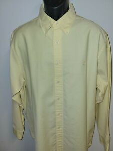 Brooks Brothers Mens L Large Supima Cotton Long Sleeve Shirt Yellow