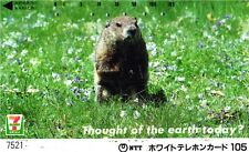 2175 SCHEDA TELEFONICA PHONECARD USATA JAPAN TOUGHT OF THE EARTH ANIMAL