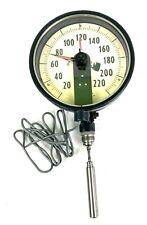 Vintage Ashcroft Steam Boiler Pressure Gauge 220 Psi Pre Owned