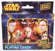 STAR WARS SAGA DARK SIDE & LIGHT PREQUEL CLASSIC CHARACTERS PLAYING 2 DECK CARDS