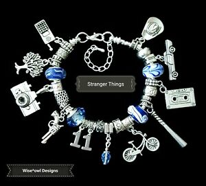 STRANGER THINGS CHARM BRACELET 12TH 13TH 16TH 18TH 21ST 30TH 40TH GIFT WITH BOX