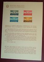 1956  ITALIA  Bollettino Postale N° 21  Proclamazione della Repubblica