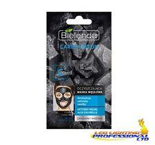 Bielenda CARBO Detox FACE MASK carbone carbonio pelle sensibile 8G (BLU)