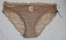 "NWT Calvin Klein QF1200 ""Seductive Comfort"" Lace Bikini, Beige, L"