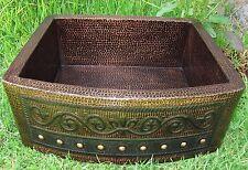 *Copper kitchen Sink w/Fleur de Lis Design 25x22x9 /Hammered handmade/ 16 Gauge