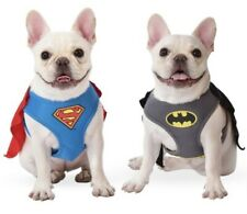 Superhero Dog Harness with removable cape Batman Superman Xs S M L Costume