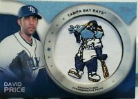 DAVID PRICE 2014 Topps Commemorative Tampa Bay Rays LOGO PATCH Red Sox Dodgers