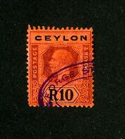 Ceylon Stamps # 213a VF Used Scott Value $165.00