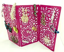 *SALE* 50 PAIRS EARRINGS PINK JEWELLERY BOX ORGANIZER WOMEN GIRL GIFT HOME DECOR