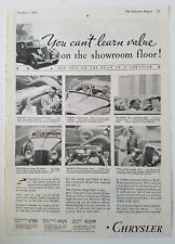 1933 Chrysler car you can't learn value on the showroom floor get out on road ad