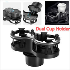 1X Black Plastic Universal Dual Cup Drink bottle Holder Car Interior Accessories