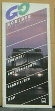 1994 Boulder/Boulder County Colorado Transit/Rtd Map