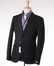 NWT $900 BARNEYS NEW YORK Olive Four Pocket Linen-Cotton Blazer 36 R Slim-Fit