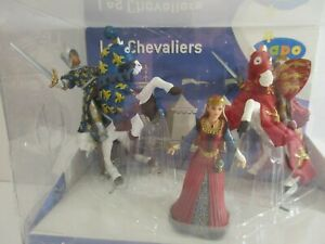 PAPO KNIGHTS Action Figures: KING RICHARD, PRINCE PHILLIP & MEDIEVAL QUEEN (New)