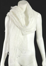 EDMOND FRETTE NWT White 100% Linen WARM OASIS Shawl Scarf