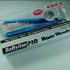 "Babyliss pro nano titanium flat iron 1 1/4"" plates New in box"