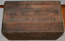 Vintage Western Cartridge Co. 16 Gauge Ammunition Box W/ Dove Tailed Corners