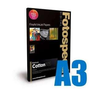 Fotospeed Platinum Cotton 305 Photo Paper | 305 GSM | 25 Sheets | A3