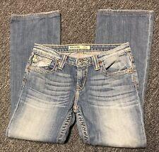 Big Star Remy Jeans Low Rise Medium Wash Faded Womans Sz 30 x 28