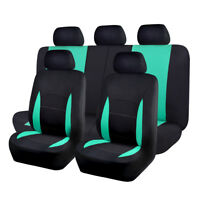 Car Seat Covers set washable lady truck SUV black mint blue bench split 40 60