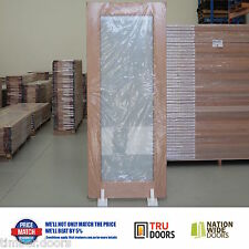 TRANSLUCENT SAFETY Glass French Solid Timber Doors Hardwood Pantry Sliding Doors