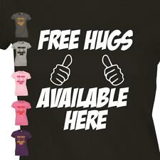 Free Hugs Available Here Ladies T-Shirt Loving Caring Reading Leeds Womens Top