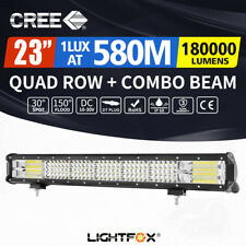 23inch Cree LED Light Bar Quad Row Flood Spot Work Driving Offroad 4x4 4WD 23""