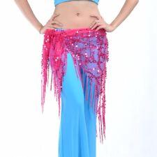 Belly Dance Triangle Hip Scarf Wrap Waistband Belt Festival Sequin Wrap Skirt
