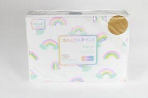 Maggie & Zoe Twin Sheet Set - Rainbow 100% Cotton Flannel
