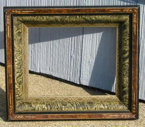 Deep Carved Brown Antique Victorian Marbled Patterned Liner Picture Frame 8~10